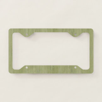 Moss Green Bamboo Wood Grain Look Licence Plate Frame
