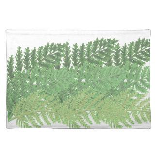 Moss Green Ferns Placemat
