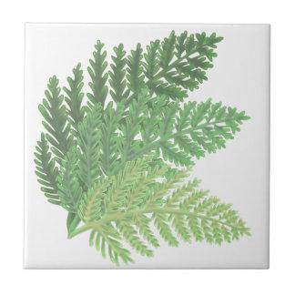 Moss Green Ferns Tile
