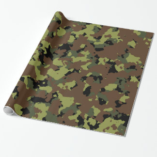 Moss Green Military Camo Wrapping Paper