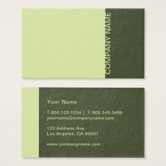 Moss Green Modern Business Card