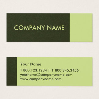 Moss Green Modern Mini Business Card