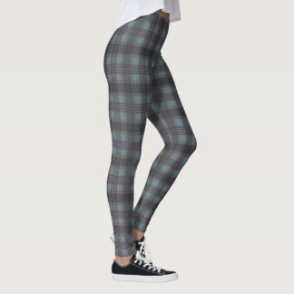 Moss green Scottish plaids Leggings