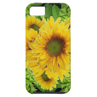 Moss Green Sunflowers-Buds Patterns Gifts iPhone 5 Covers