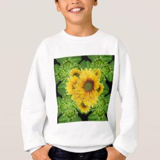 Moss Green Sunflowers-Buds Patterns Gifts Sweatshirt