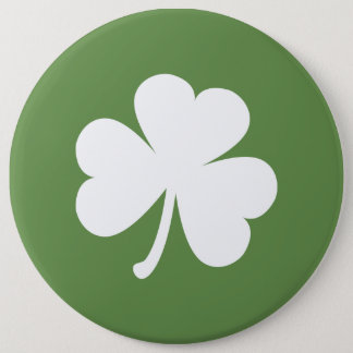 Moss Green w/ Irish Shamrock 6 Cm Round Badge