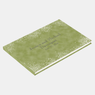 Moss Green with Stardust Wedding Guestbook