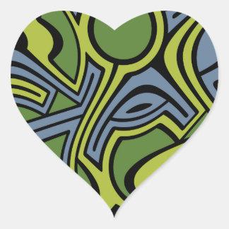 Moss Heart Sticker
