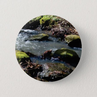 moss in the creek 6 cm round badge