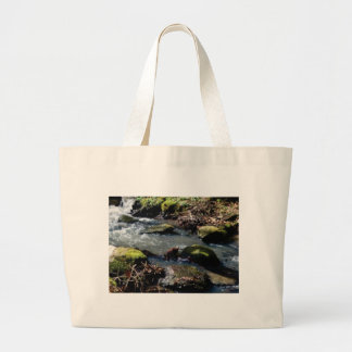 moss in the creek large tote bag