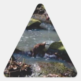 moss in the creek triangle sticker