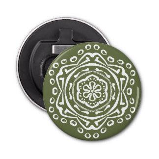 Moss Mandala Bottle Opener