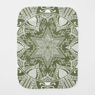 Moss Mandala Burp Cloth