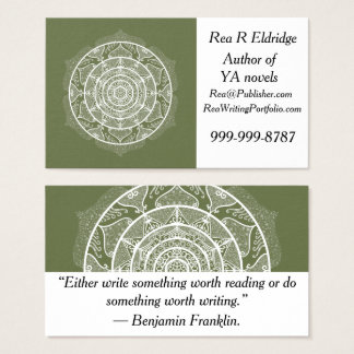 Moss Mandala Business Card