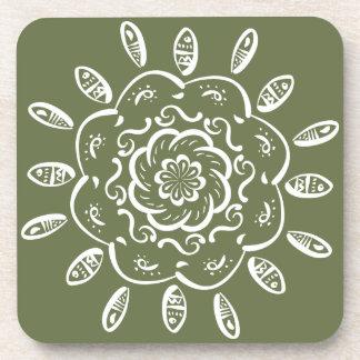 Moss Mandala Coaster