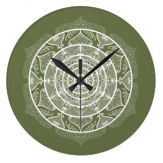 Moss Mandala Large Clock