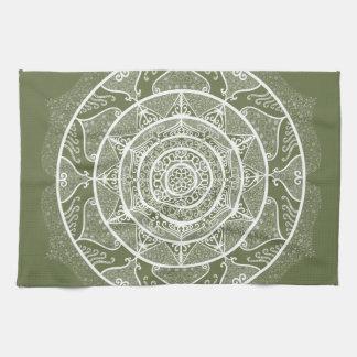 Moss Mandala Tea Towel