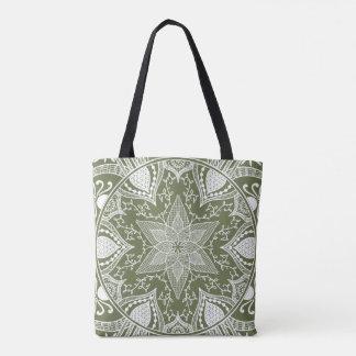 Moss Mandala Tote Bag