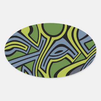 Moss Oval Sticker