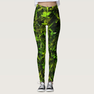 Moss print leggings