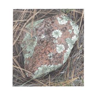 Moss rock lichen notepad