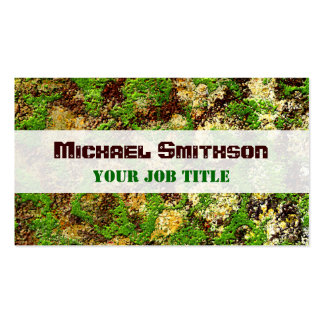 Moss Rust Aged Grunge Old Camouflage Texture Business Card Templates