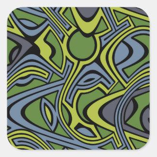 Moss Square Sticker
