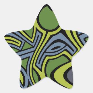 Moss Star Sticker