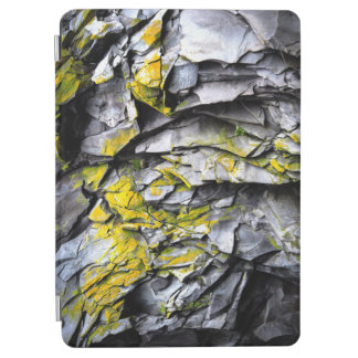 Mossy grey rocks photo iPad air cover