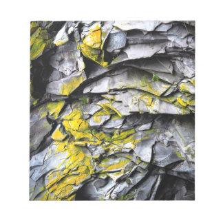 Mossy grey rocks photo notepad
