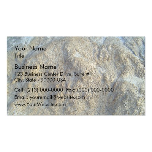 Mossy limestones texture business card