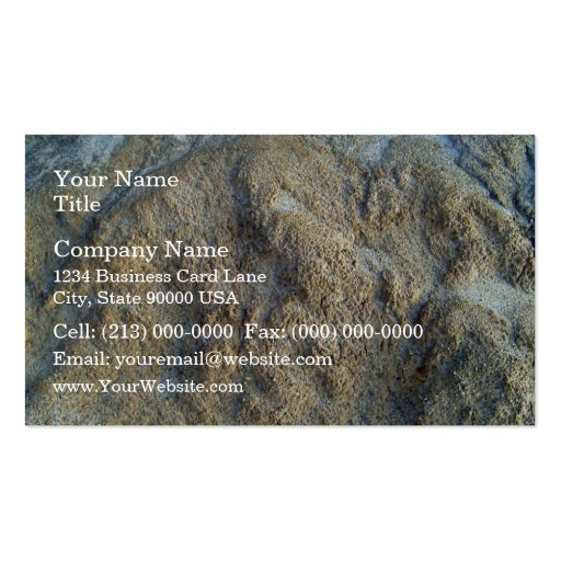 Mossy limestones texture business cards