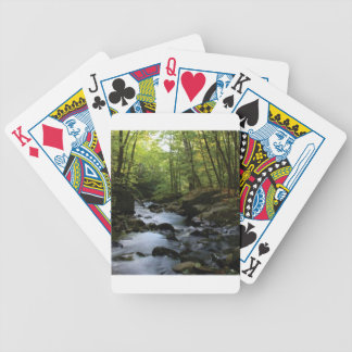 mossy stream in the forest bicycle playing cards