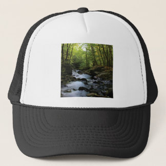 mossy stream in the forest trucker hat
