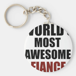 Most awesome Fiance Basic Round Button Key Ring