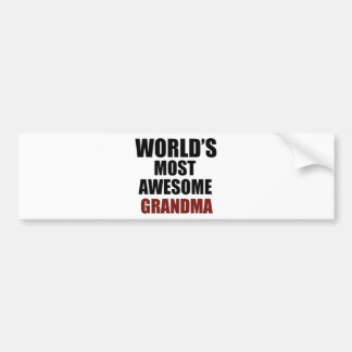 Most awesome GRANDMA Bumper Sticker
