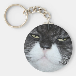Most Beautiful Cat Basic Round Button Key Ring