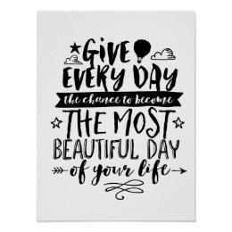 Bon Most Beautiful Day Of Your Life Quote Poster ...