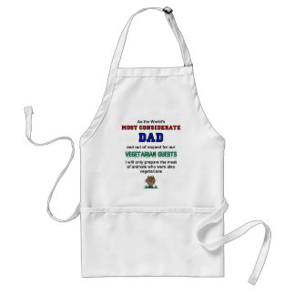 Most Considerate Dad Cooks Meat For Vegetarians Standard Apron