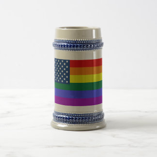 Most gay and lesbian pride american flag beer stein