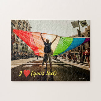 Most gay pride march in Barcelona Jigsaw Puzzle