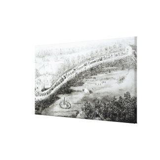 Most Gracious Majesty and Escort Leaving Stretched Canvas Print