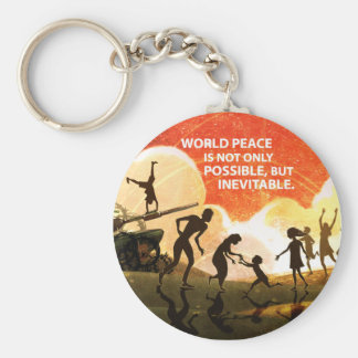 Most Great Peace Basic Round Button Key Ring