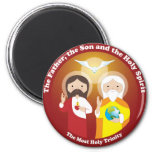 Most Holy Trinity 6 Cm Round Magnet
