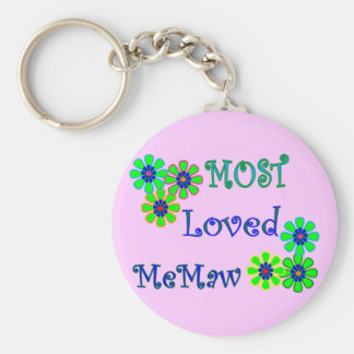 """""""Most Loved MeMaw""""  Mother's Day Gifts Basic Round Button Key Ring"""