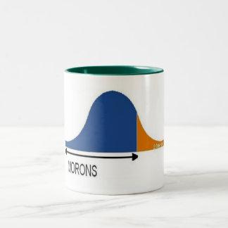 Most People are Morons Two-Tone Coffee Mug