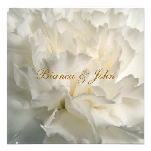 Most Popular Wedding Invitations: Most Popular And Elegant White Wedding Invitation 5.25