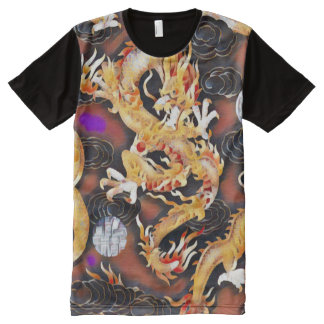 Most Popular Chinese Dragon Acrylic Paint All-Over Print T-Shirt