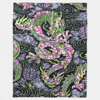 Most Popular Chinese Dragon Black Light Special Fleece Blanket