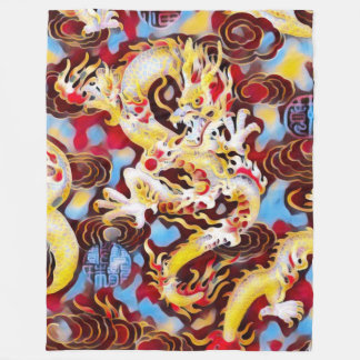 Most Popular Chinese Dragon Carnival Art Fleece Blanket